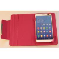 Buy cheap Pink 7 inch Tablet Cases Universal Tablet Flip Leather Case Two Slot Stand from wholesalers