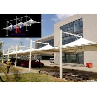 Buy cheap White Membrane Surfaced Car Parking Tensile Structure Steel Cable Tightened from wholesalers