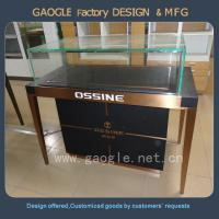 Buy cheap Newest style led lighting jewelry store glass display cases from wholesalers