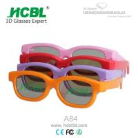 Buy cheap Pink / Red Plastic Frame Kid Chroma Depth 3d Glasses For Cinema With 0.4mm TAC Filter Lens from wholesalers