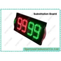 Buy cheap Electronic Player Substitution Board For Football , Double Sided Substitution Board, super bright LED light from wholesalers