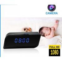 Buy cheap Home security wireless spy cameras clock video baby monitor, 1080P 2 way speaking motion sensor mini hidden spy camera from wholesalers
