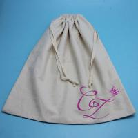 Buy cheap Resuable 100 Cotton Linen Storage Bags , Bakery Bread Food Storage Bags from wholesalers
