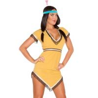 Buy cheap Yellow Native Lily Costume Sexy Girl Halloween Costume Dress And Hairband from wholesalers