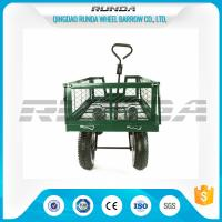 Buy cheap Steel Mesh 4 Wheel Garden Cart  Load Capacity 150-300kg Powder Coated Finish from wholesalers