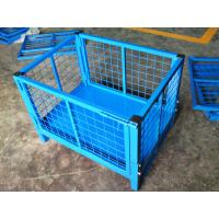 Buy cheap Galvanized / Powder Coating Metal Pallet Cages For Small Parts Storage from wholesalers
