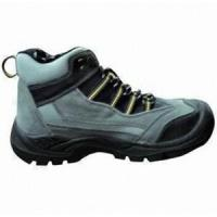 Buy cheap CE Certificated Black Leather Safety Boots product