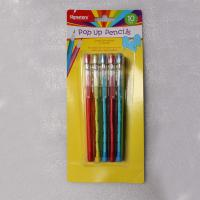 Buy cheap Easter Plastic Multi Head Bullet Push Pencil Logo Printing With Cap product