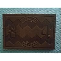 Brown Custom Leather Tags With Embossed Logo For Jackets And Jeans