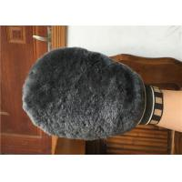 Buy cheap Double Sided Sheepskin Car Wash Mitt Pure Merino Long Wool For Car Cleaning from wholesalers