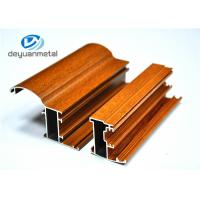 Buy cheap Customized Wood Grain Aluminum Extrusion Profiles For Doors 6063-T5 / T6 from wholesalers