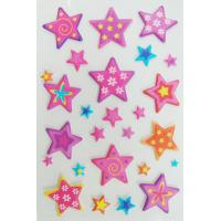 China Die Cut Soft Star Shaped Stickers , Safe Non Toxic Custom Star Stickers on sale