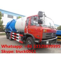 Buy cheap Dongfeng 6*4 LHD/RHD Cummins 210hp diesel 16m3 vacuum sewage suction truck for sale, dongfeng brand sludge tank truck from wholesalers