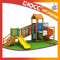 Buy cheap Rainbow Wooden Playground Equipment Galvanized Steel Pipe CE Approved from wholesalers