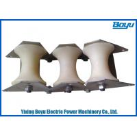 Buy cheap Conductor Stringing Blocks Triple Cable Pulley with Rated Load 10kN Linear and Angular from wholesalers