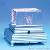 Buy cheap 3D laser crystal led light base with crystal cube from wholesalers