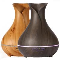 Buy cheap 400ml Advanced Ultrasonic Aroma Essential Oil Diffuser Air Mist Humidifier Purifier with Wood Grain Electric LED Lights from wholesalers