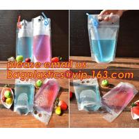 Buy cheap Juice Drink Pouches Heavy Duty Hand-held Reclosable Zipper bags Stand-up Heat-proof Plastic Pouches with straw pouch sac from wholesalers