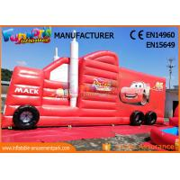 Buy cheap Fun Truck Bounce House Inflatables Obstacle Course Red Fire Retardant from wholesalers