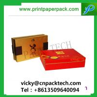 Buy cheap Bespoke Top Quality Rigid Durable Gift Packaging Pen Boxes Gloss Color Shoulder Tea Box with Velvet Pad Insert from wholesalers
