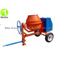 Buy cheap Mobile Mini Diesel Cement Mixer 2 wheel Manual Tipping  with 450 Liter Drum from wholesalers