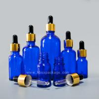 Buy cheap China supplier 15ml Cobalt Blue Aromatherapy Essential Oil Glass Container Bottle With Dropper from wholesalers