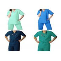 Buy cheap Non - Irritating Waterproof Medical Scrub Suits For Cleaning Room / Food Company from wholesalers