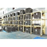 Buy cheap Folding Stackable Steel Wire Mesh Pallet Cage With Galvanized Surface Treatment from wholesalers