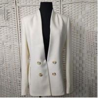 Quality Loose Fit Casual White Blazer Double - Breasted For Office Ladies for sale