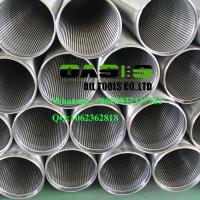 Buy cheap API LTC thread stainless steel 304 wire wrapped Johnson screens pipe for well drilling from wholesalers