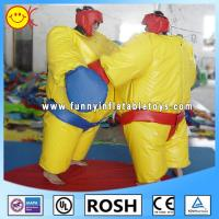 Buy cheap Kids / Adults PVC Inflatable Boxing Sumo Wrestling Suits Yellow from wholesalers