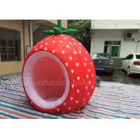 Buy cheap 420D Oxford Cloth Inflatable Event Tent Red Inflatabe Strawberry Tent from wholesalers