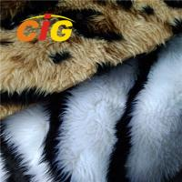 Buy cheap 100% Polyester Colorful Fox Fur Fabric Tricot Plain Fabirc Width 160cm from wholesalers