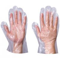 Buy cheap Waterproof HDPE PE Disposable Food Preparation Gloves Smooth / Embossed Surface from wholesalers