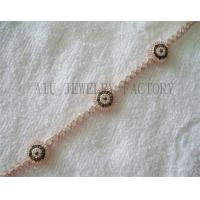Buy cheap Girl Rose Gold Jewish Symbols Evil Eye Bracelet Jewelry of Sterling Silver from wholesalers