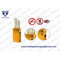 Buy cheap Golden Mobile Phone GPS Jammer AC110V - 240V Jamming Range Radius 2 - 15m from wholesalers