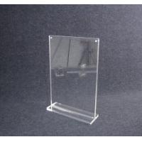 Buy cheap COMER A4 acrylic tabletop holder menu display stand clear lucite with alarm display system from wholesalers