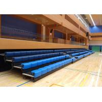 Buy cheap Power Control Retractable Grandstands Retractable Seating System Recessed Polymer Bench from wholesalers