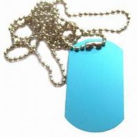 Buy cheap Aluminum Dog Tag, Different Sizes, Colors and Logos are Available, Suitable for Promotional Gift from wholesalers