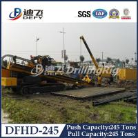 Buy cheap Horizontal Directional Drilling Rig DFHD-245 with 2480KN Pull Capacity from wholesalers