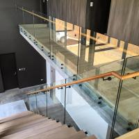 Buy cheap Glass balustrade with stainless steel patch fitting for decking interior/ outdoor product