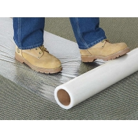 Buy cheap Fire Retardant Clear 100micron 4 Mil Carpet Protection Film Anti Foot Traffic from wholesalers