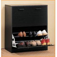 Buy cheap Black Modern Shoe Rack Cabinet , Wooden Shoe Cabinet Furniture from wholesalers