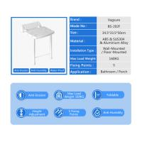 Buy cheap Large Panel Wall Mounted Shower Seat / Folding Shower Bench Easy Install from wholesalers
