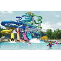 Outdoor Children Fiberglass Water Pool High Speed Body Slides Equipment
