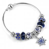 Buy cheap Perfect in workmanship silver bracelet bangle with various shape colorful bead from wholesalers