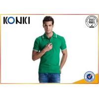 Buy cheap Soft Hand Feeling Custom Polo Shirt , Personalised Work Polo Shirts For Adults from wholesalers