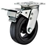 Buy cheap 5X2 Heavy Duty Locking Casters , Swivel Rubber Caster Wheels Heavy Duty from wholesalers