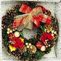Buy cheap Artificial Home Decoration Christmas Garland, Decorated with Bows, Berries and Pine Cones from wholesalers
