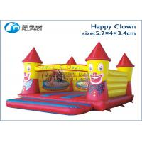 Buy cheap Pvc Tarpaulin Happy Clown Inflatable Bounce House For Commercial Rental from wholesalers